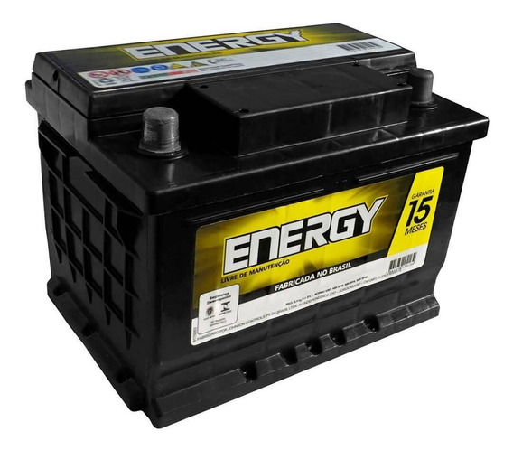 Bateria Carro Energy Selada 60 Amperes 12v