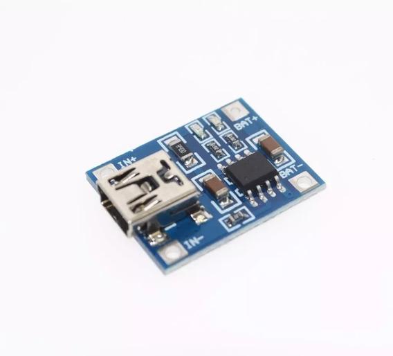 5x Tp4056 Mini Usb Carregador Bateria Litio 1a 5v