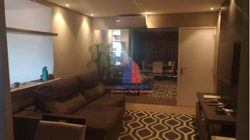Apartamento Com 3 Dormitórios À Venda, 80 M² Por R$ 620.000 - Edifício Bellas Artes - Vila Santa Catarina - Americana/sp - Ap1153