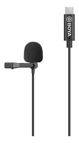 Microfone Boya BY-M3  omnidirecional preto