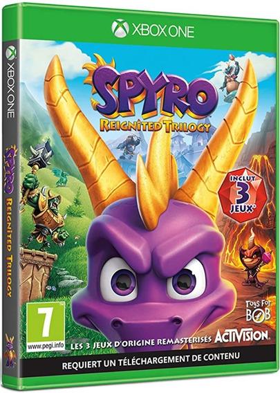 Jogo Spyro Reignited Trilogy Xbox One Mídia Física Lacrado