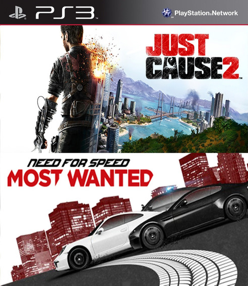 Pacote Just Cause 2 + Need For Speed Most Wanted Ps3 Psn