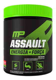 Assault Pre-treino Mp Musclepharm Pre Workout 15 Doses Eua