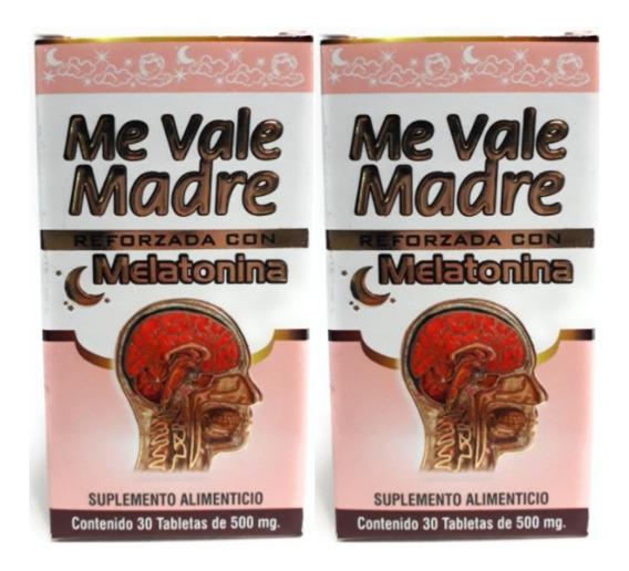 Me Vale Madre Con Melatonina Nutrimed 30 Tabs 2pz Envio Full