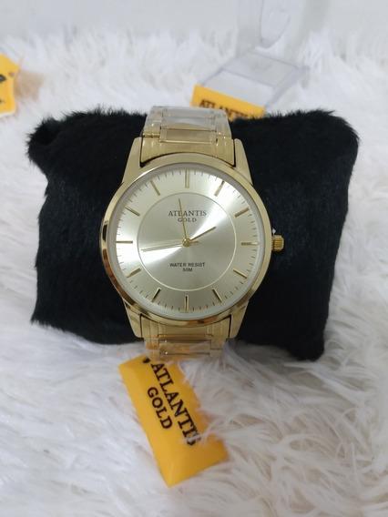 Relógio Feminino Dourado Atlantis 2019