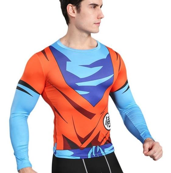 Playeras Licra Deportiva Goku Dragon Ball Avengers Marvel