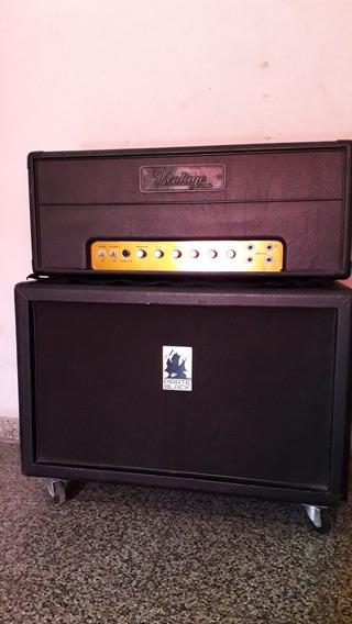 Cabezal Plexi Vintage Electric 50 W + Caja Pirate Black