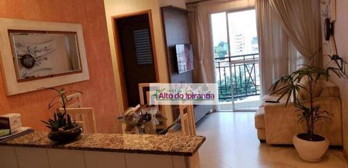 Apartamento Com 2 Dormitórios Para Alugar, 56 M² - Ipiranga - São Paulo/sp - Ap5452