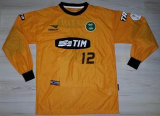 Rara Camisa De Jogo De Goleiro Coritiba 2001 Tim Penalty #12