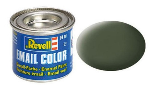Tinta Enamel Bronze Green Ral 6031 Mat 14ml Revell 32165
