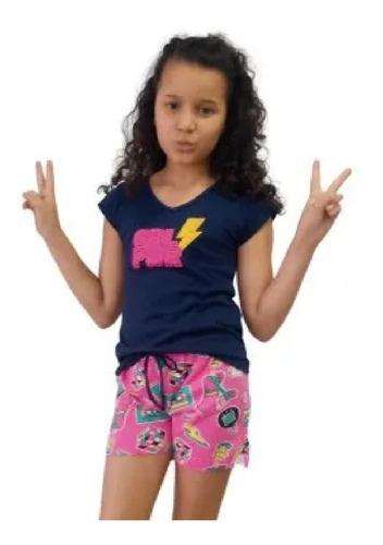 4 Conjunto Infantil Juvenil Menina Roupas Feminina Verão