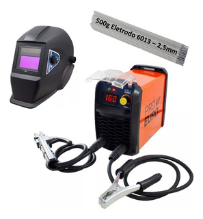 Inversora Solda 160a 220v + Máscara Autom+ 500g Eletr. 2,5mm