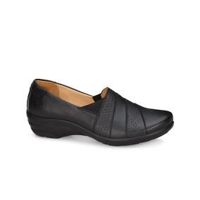 Zapatos Andrea Confort Negros Piel Oficina 2620503 Mod. 8478