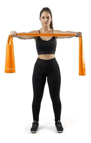 Imagem 1 de 4 de Faixa Elástica De Ginástica Pilates Fisioterapia Suave Leve