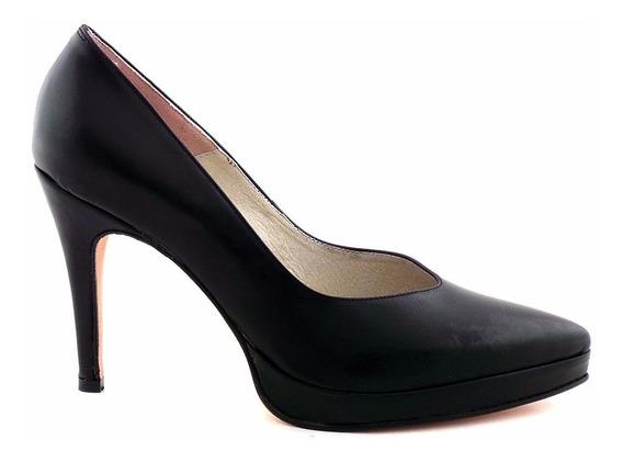 Zapato Mujer Clásico Cuero Briganti Vestir Taco - Mccz03299