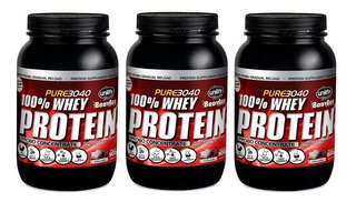 Kit 3 Whey Protein 100% Isolada - Unilife 900g Chocolate