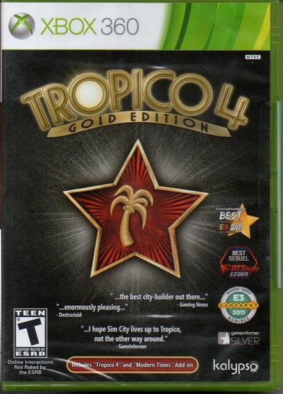 Tropico 4 Gold Edition Xbox 360 Novo Lacrado