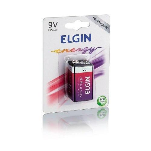 Bateria Recarregável 9v 250mah Blister Com 1 Elgin