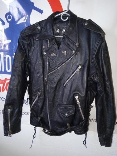 Chaqueta Cuero Motociclista Harley Davidson Original