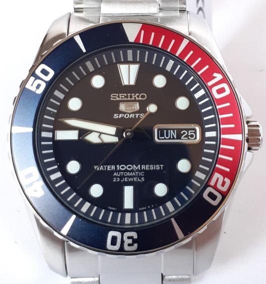 Seiko 5 Sport Automático Pepsi - Original - 12x Sem Juros