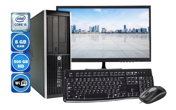 Computador Completo Hp 8200 I5 2°geração 8gb Hd 500gb Wi-fi
