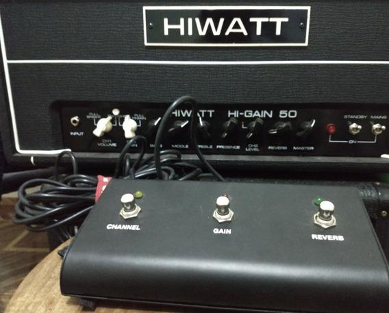 Amplificador Valvulado Hiwatt 50 Hi Gain Cabeçote Footswitch