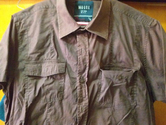 Camisa Caballero Moose. Manga Corta.