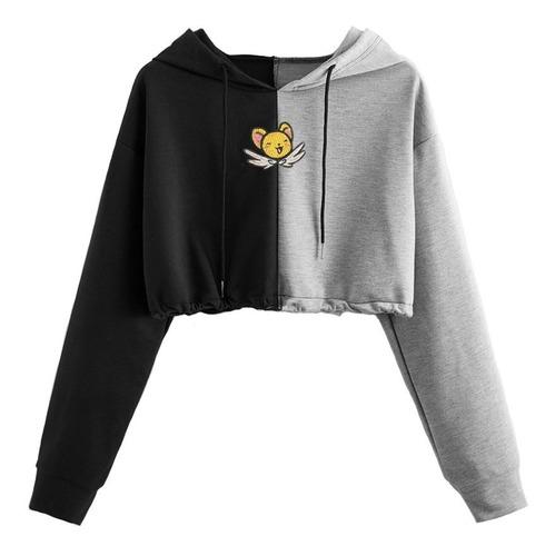 Keru Kero Sakura Japon  Buso Sweater Hoodie Corto Crop Top