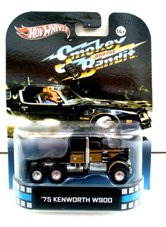 Miniatura Caminhão Kenworth W900 Smokey Bandit Hot Wheels