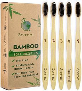 Natural Bamboo Toothbrush5pcspack(buy 4,get 1 Free),ecofrien