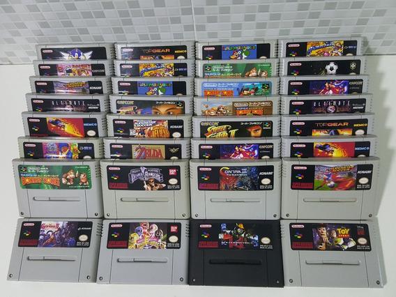 2 Jogos P/ Super Nintendo A Sua Escolha + Garantia!!!!