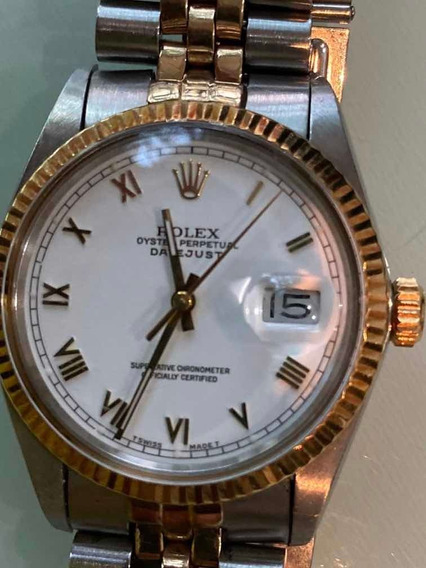 Rolex Datejust Acero Oro Romanos 36 Mm Automático Rolex Mica