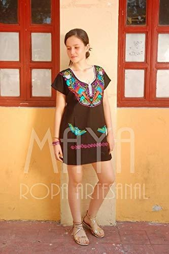 Maya Ropa Artesanal-blusa Artesanal Kimona Bordada