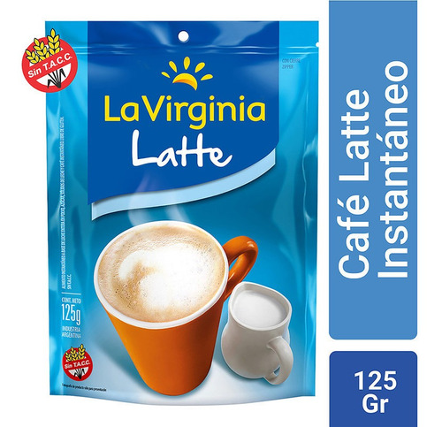 La Virginia Cafe Latte Instantaneo Doypack Sin Tacc 125 Gr