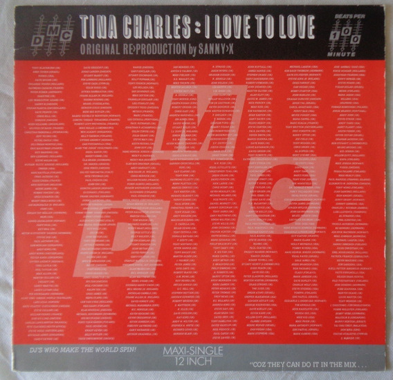 Lp Tina Charles 1986 I Love To Love, Maxi Single Importado