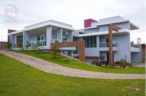 Chácara Com 3 Dormitórios À Venda, 4600 M² Por R$ 2.800.000,00 - Condomínio Terras De Itaici - Indaiatuba/sp - Ch0003