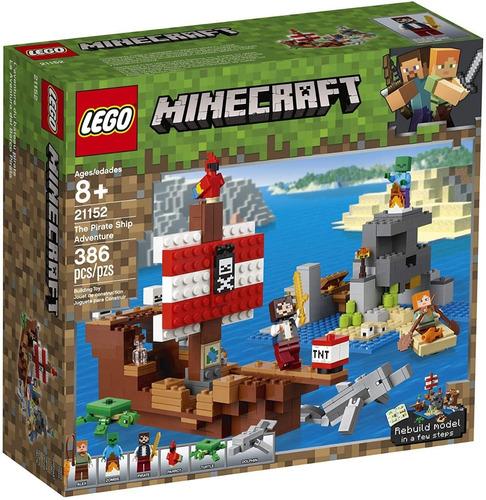 Lego Minecraft 21152 La Aventura Del Barco Pirata 241 Pzs