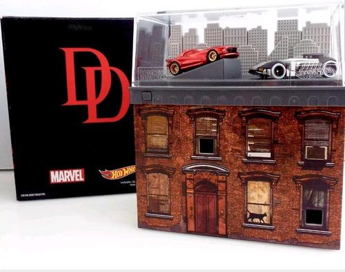 Imagen 1 de 2 de Hot Wheels Daredevil Car Vs Punisher Car Sdcc 2016 Exclusive