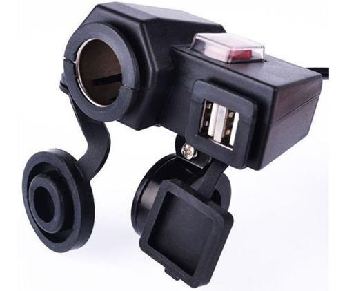 Imagen 1 de 3 de Cargador Moto Usb Electrico Cargador Usb De Teléfono Motor