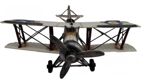 Avion Aeroplano Replica Escala Helice Movil 21 X 20 X 7.5 Cm