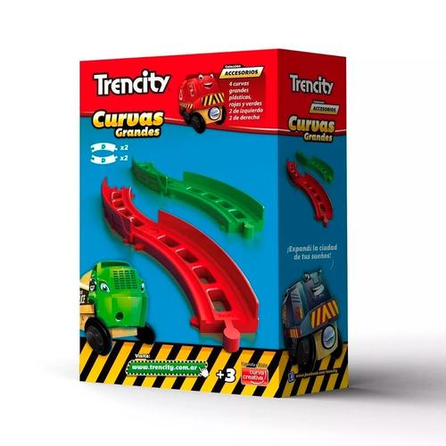 Trencity Kit Curvas Grandes De Plastico 4 Piezas Edu Full