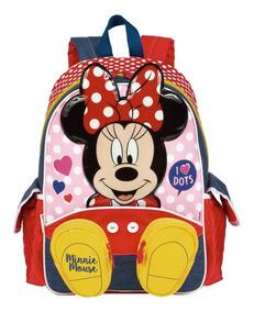 Mochila Escolar Infantil C/ Bolso Menina Minnie 18y 65003 G