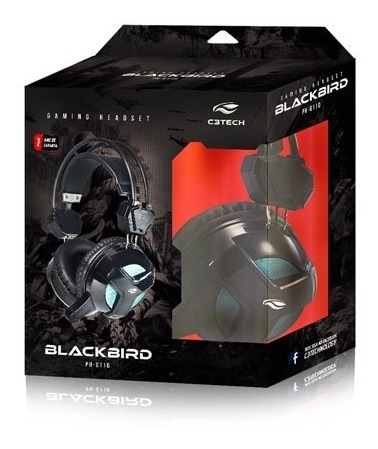 Fone Gamer Blackbird C/ Microfone Ph-g110bk C3 Tech