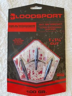 Puntas De Flechas Caceria Bloodsport Gravedigger 100gm
