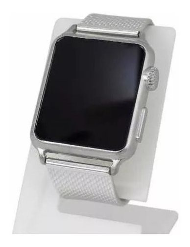 Relogio Masculino Feminino Prateado Touch Led Digital Watch