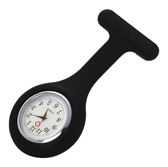 Relógio Lapela Bolso Jaleco Enfermagem Saúde Silicone Hospit