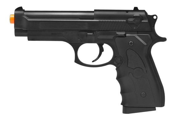 Pistola De Airsoft Spring Beretta 92 G052b G052b 6mm - Galaxy