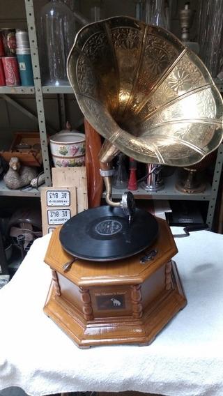 Gramofone - Replica Funciona Corda Só Toca 78 Rpm