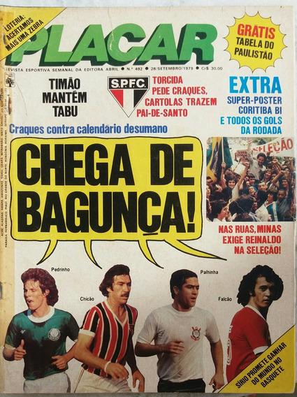 Revista Placar N° 492 - 28.09.1979 - Pôster Grêmio / Rs
