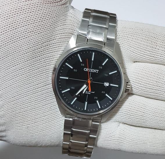 Relógio Orient Masculino Mbss1294 P1sx Prata/preto